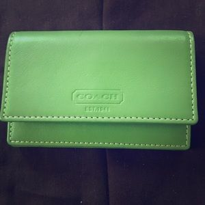 Petit green leather Coach wallet